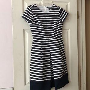 346 Brooks Brothers Striped Cap Sleeve Dress